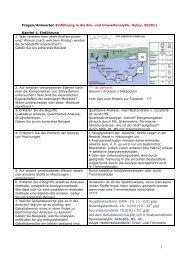 Fragenzettel Umweltanalytik