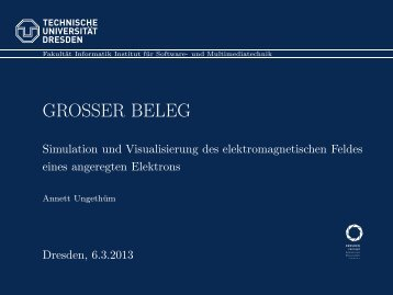 Vortrag (pdf - 2,06 MB) - Fakultät Informatik