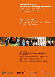 Tagungsbericht: Erwachsenenbildung barrierefrei?! - biv integrativ