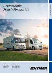 Reisemobile Preisinformation - Hymer