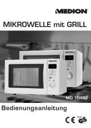 Cover fold-out md 10482 Mikrowelle NORD.FH11 - Medion
