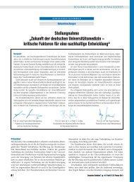 """Stellungnahme """"Zukunft der deutschen Universitätsmedizin ..."""