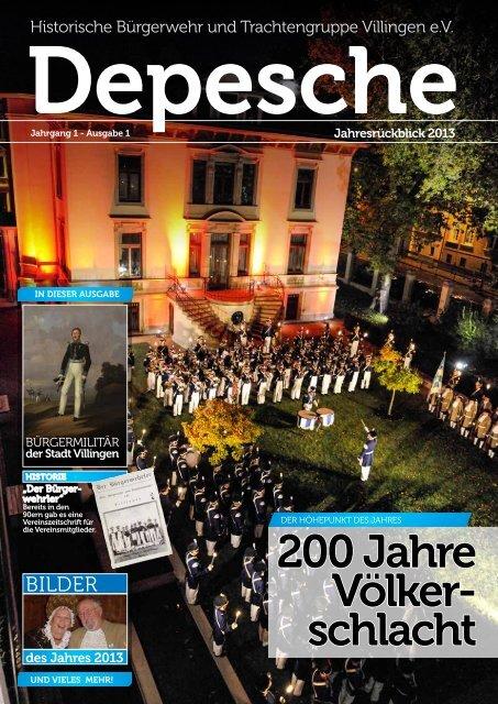 Depesche zum Download (PDF, 1.7 MB) - Historische Bürgerwehr ...