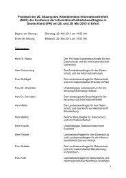 Protokoll der 26 - Hamburgische Beauftragte für Datenschutz und