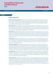 Länderanalyse USA - DekaBank