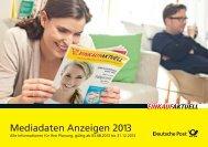 Mediadaten Anzeigen 2013 - Deutsche Post