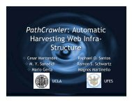 PathCrawler: Automatic Harvesting Web Infra- Structure