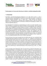 Positionspapier zur kommunalen Sammlung von Elektro- und ...
