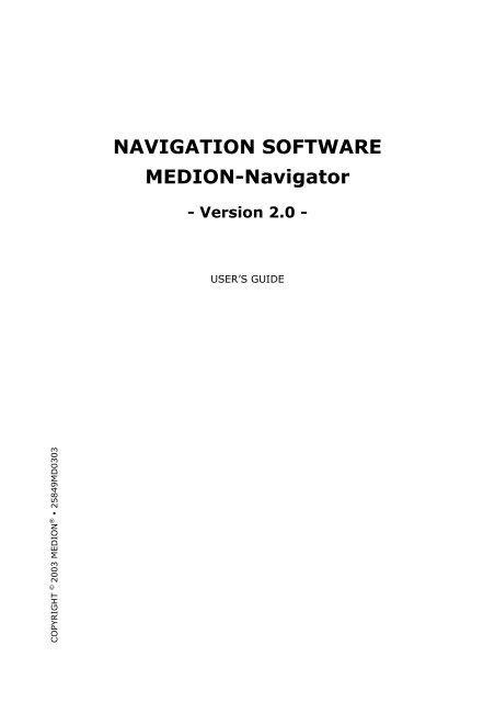 medion navi software