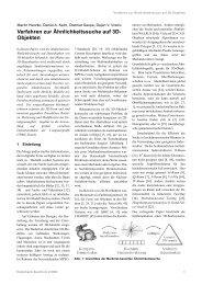 Verfahren zur Ähnlichkeitssuche auf 3D- Objekten - V3D2