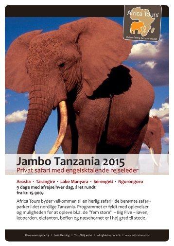 Jambo Tanzania-safari 2015