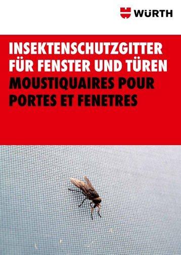 insektenschutzgitter für fenster und türen moustiquaires ... - Wuerth AG