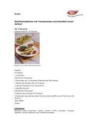Hüftsteak mit Bohnen und Speck, dazu Pfeffer-Kartoffeln - Iglo