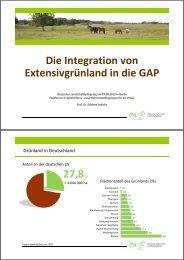 Die Integration von Extensivgrünland in die GAP Prof. Dr. Eckhard ...