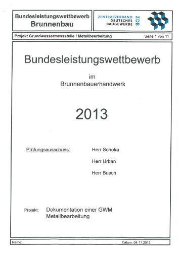 Wettbewerbsaufgabe 2013 - Zentralverband Deutsches Baugewerbe