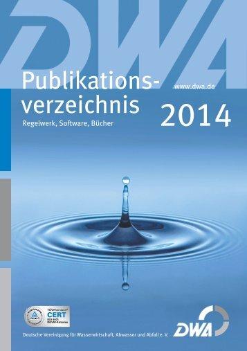 Publikations- verzeichnis - DWA - Deutsche Vereinigung für ...