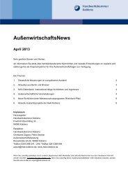 Die aktuelle Ausgabe der AußenwirtschaftsNews für April 2013 ...