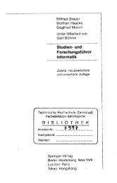 Studien- und Forschungsführer Informatik BIBLIOTHEK - Technische ...
