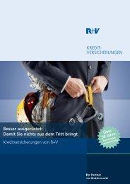 KREDIT- VERSICHERUNGEN Besser ... - R+V Maklerportal