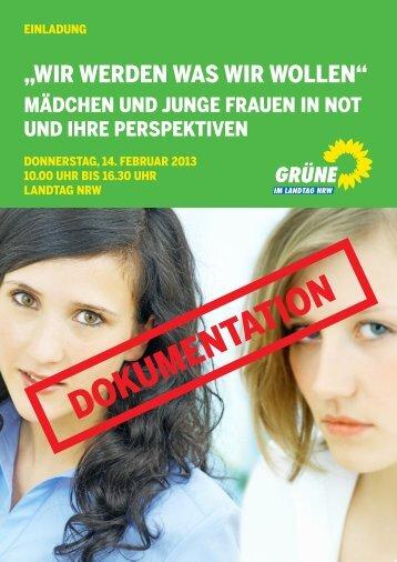 """Dokumentation """"Wir werden was wir wollen"""" - Bündnis 90/Die ..."""