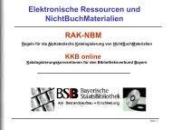 Elektronische Ressource - Die Bayerische Staatsbibliothek