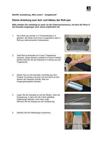 Kleine Anleitung zum Auf- und Abbau der Roll-ups
