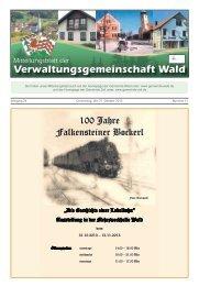 Verwaltungsgemeinschaft Wald - Gemeinde WALD