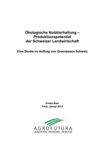 Ökologische Nutztierhaltung – Produktionspotential ... - Greenpeace