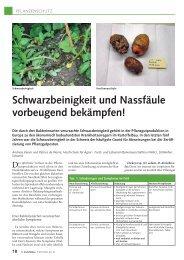 Artikel in «Kartoffelbau - HAFL