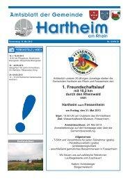 Gemeindeblatt 2013 KW20 - Gemeinde Hartheim