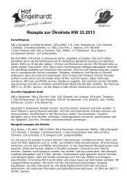 Rezepte KW 33 - Hof Engelhardt