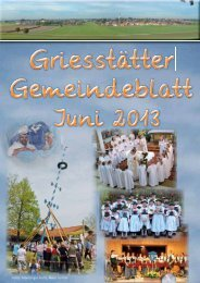 Gemeindeblatt Juni 2013 - Griesstätt