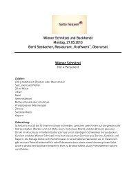 Wiener Schnitzel und Backhendl - Rezepte von Bertl Seebacher