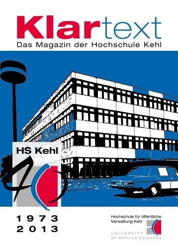 (KLARTEXT)! - Hochschule Kehl