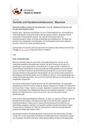 GTAI - Internationale Märkte - und Handelskammer Nord Westfalen