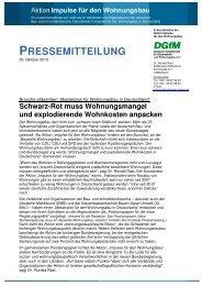 Pressemitteilung als pdf - Impulse für den Wohnungsbau