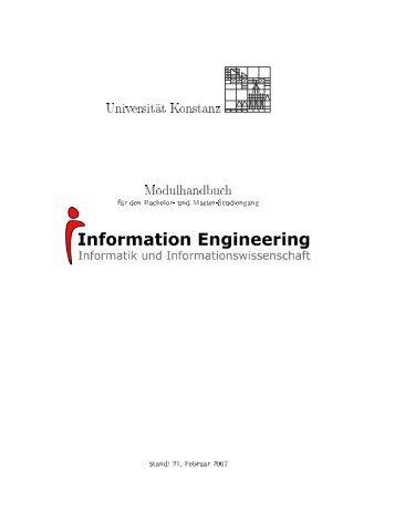 Universität Konstanz Modulhandbuch - Fachbereich Informatik ...