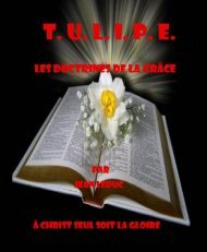 TULIPE - Les doctrines de la grâce.