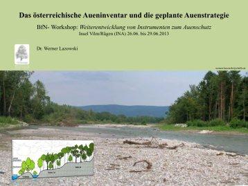 Das österreichische Aueninventar und die geplante Auenstrategie