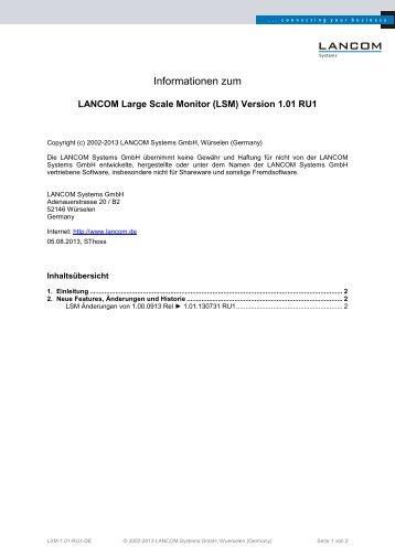 (LSM) Version 1.01 RU1 - LANCOM Systems
