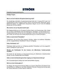 Häufige Fragen Wann und wo findet die ... - Ströer Media AG