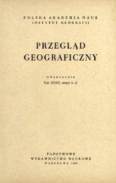 Przegląd Geograficzny T. 32 z. 1-2 (1960)