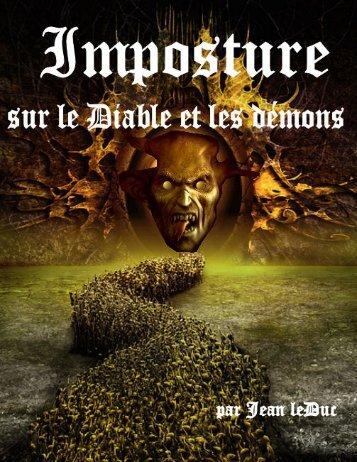 Imposture sur le diable et les démons.