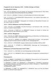 Programm für den Vortragstag - Geologische Bundesanstalt