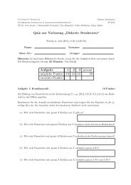 Quiz (PDF) - Fachbereich Informatik und Informationswissenschaft