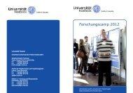Forschungscamp 2012 - Universität Rostock