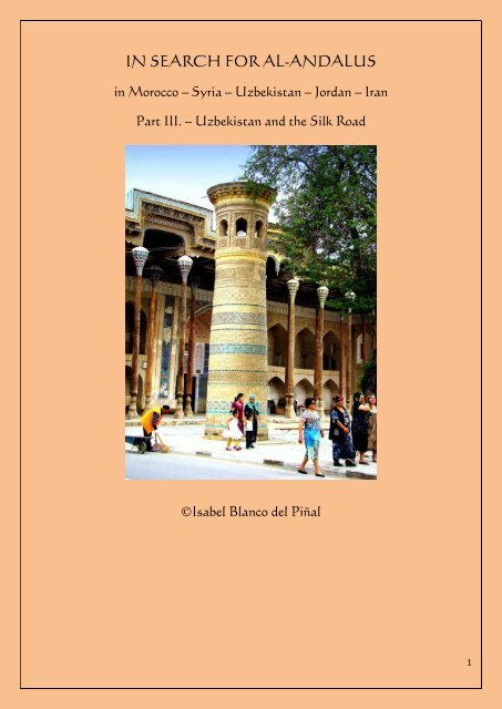 IN SEARCH FOR AL-ANDALUS, Part III. - Uzbekistan and the Silk Road