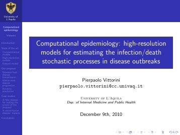 Computational epidemiology - Faculty of Computer Science