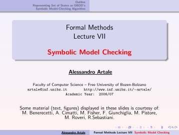 CTL Symbolic Model Checking - Faculty of Computer Science