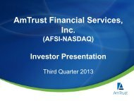 AmTrust Financial Services, Inc. - Corporate Solutions